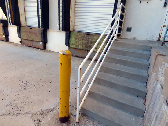 Approx. (140') of Steel Hand Railing on North West Corner of Dillard's by L