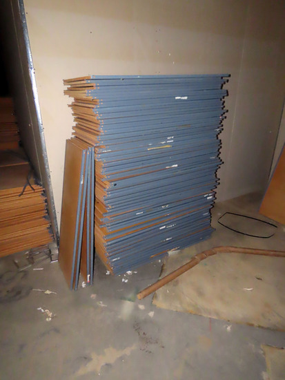 Room Full of Metal & Wood Shelf Units (Some Brand New in Crates), (20) Case