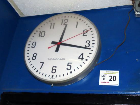 Cincinnati Electric Wall Mount Clock & Electric Flood Light.