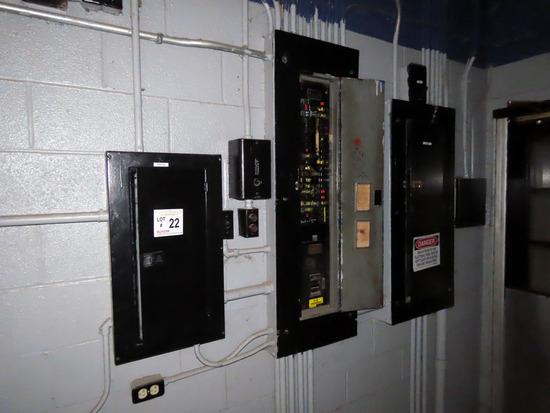 (3) 120/208V Breaker Panels, (1) 200 Amp, (2) 100 Amp.