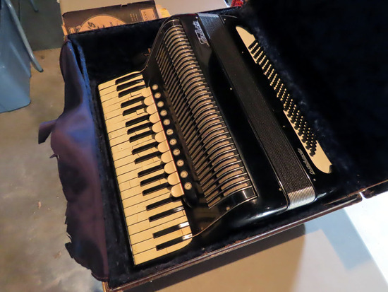 "Castelfidordo ""Silvio Marotta"" Piano Accordian with Case & Music."