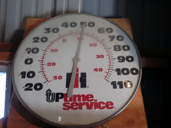 "IHC Large Thermometer ""Uptime Service"" (Excellent Condition with Original I"