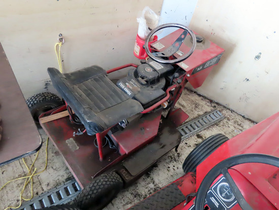 """Big Mow"" 8 HP 3-Wheel Riding Mower with Briggs & Stratton 8 HP Gas Engine."
