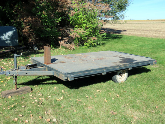 6' x 10' 1-Axle Utility Trailer with Steel Deck.