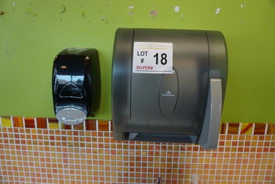 Wall Mount Georgia Pacific Paper Towel Dispenser & Wall Mount Soap Dispense
