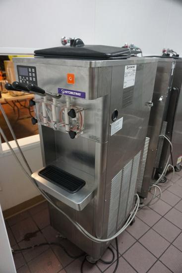 Stoelting Model F231-1812-OT2 Refrigerated Stainless Steel Commercial Frozen Yogurt Dispenser