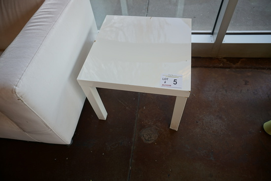 Small Square Plastic Table.