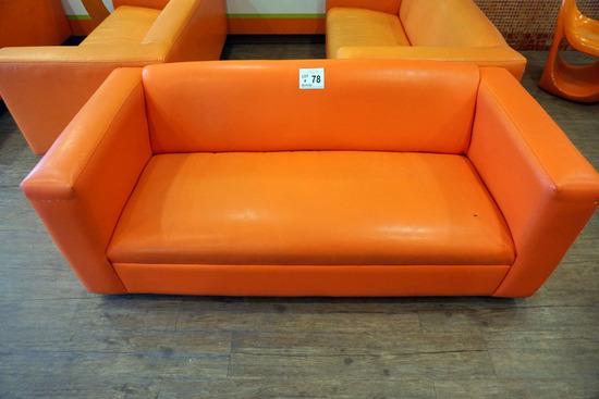 (5) 6' Orange Couches.