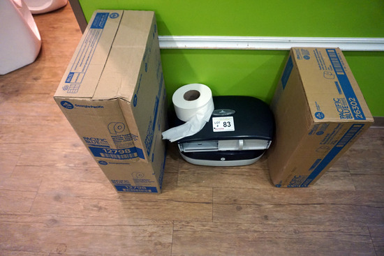 Georgia Pacific Toilet Paper Holders with (22) Rolls of Toilet Paper.