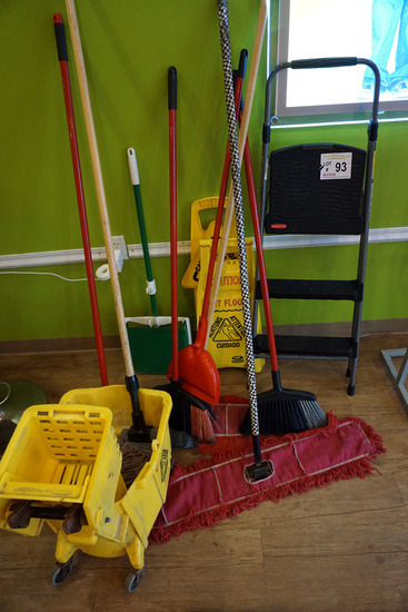 Rubbermaid Step Ladder, Commercial Brooms, Caution Wet Floor Signs, Sign St