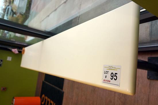 """Acrylic Top Double Pedestal Bar Top (8' x 15"""")."""
