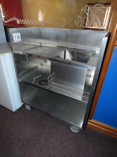 Stainless Steel Watiress Stand on Rollers.