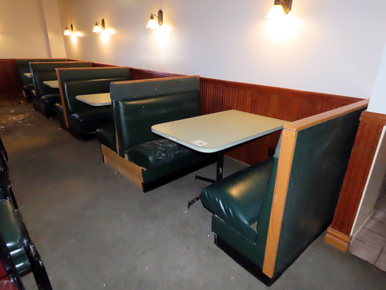 (14) 4-Person Booths with Single Pedestal Table.
