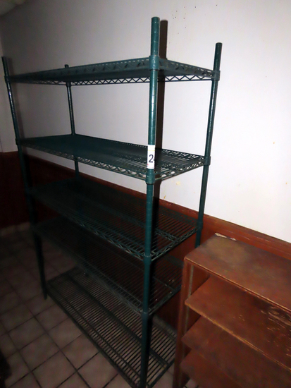 5-Shelf Wire Shelf Unit.