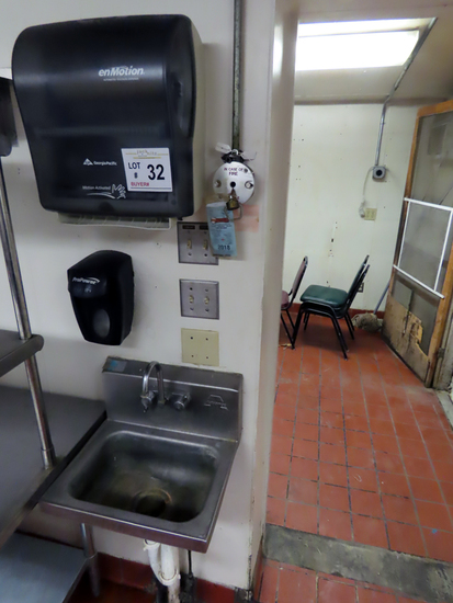 Advance Wall-Mount Hand Sink & Georgia Pacific Paper Towel Dispenser.