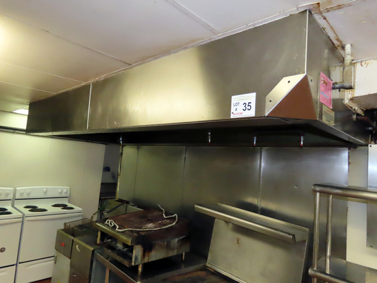 Kidde 4' x 10' Stainless Steel Overhead Exhaust Hood with Removable SS