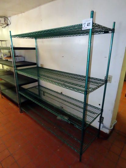 6' Wide Wire Shelf Unit with (4) Shelves.