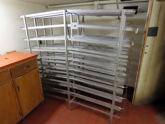 72-Shelf Heavy Duty Aluminum Commercial Food Can Rack.