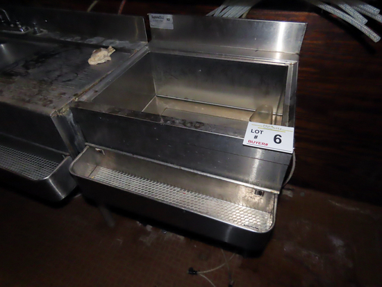 "Commercial Stainless Steel ""Under Bar""Ice Bin on Stand (Located on 2nd"