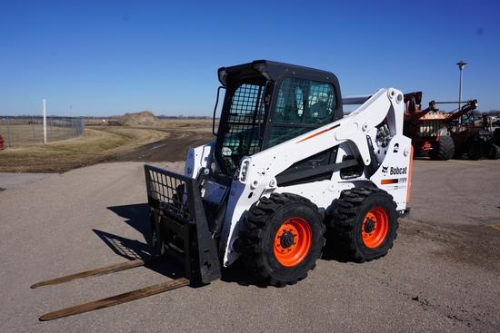 2018 Bobcat S650 Skidloader, SN# ALJ814347, Bobcat 4-Cylinder Diesel Engine, 2-Speed Transmission, C