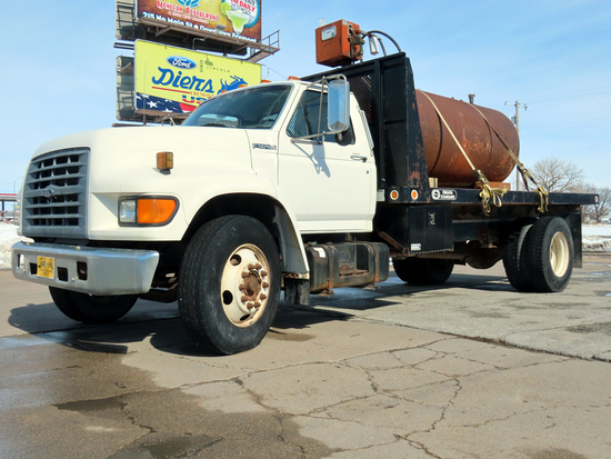 1998 Ford Model F-800 Conventional Single Axle Dump Truck, VIN# 1FDNF80C6WVA31869, Ford 6-Cylinder D