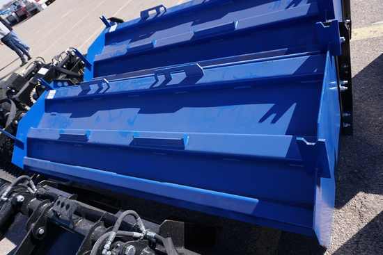 New/Unused 8' QT Snow Pusher Attachment with Rubber Blade.
