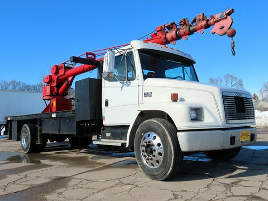1999 Freightliner Model FL-70 1-Axle Crane Truck, VIN# 1FV6HFBA87HF02126, Cummins Turbo Diesel Engin