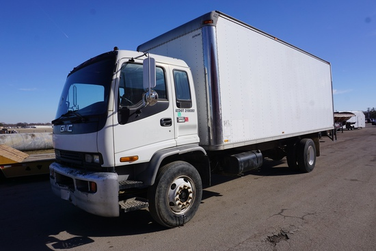 1998 GMC Model C-6500 Single Axle Van Truck, VIN# 1GDJ7C1JXWJ505096, Caterpillar 3126 Turbo Diesel E