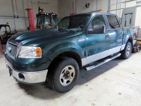 2007 Ford Model F-150XLT Super Crew Cab Pickup, VIN#B29570, 5.4 Liter Triton V-8 Gas Engine, Automat