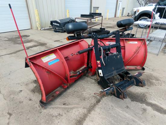 "Boss 8'2"" ""Power-V"" Front Mount V-Plow Snow Plow, SN# 81153, Hydraulic Lift & V-Angle, Light Kit,"