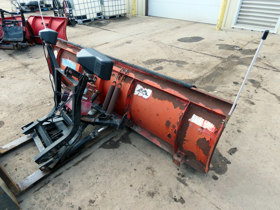 Western 8' Straight Front-Mount Snow Plow, Light Kit, No Cab Controls or Quick Mounts.