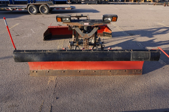 Western Pro Plus Ultra Finish 8' Front Mount Straight Hydraulic Snow Blade, Hydraulic Lift & Angle,
