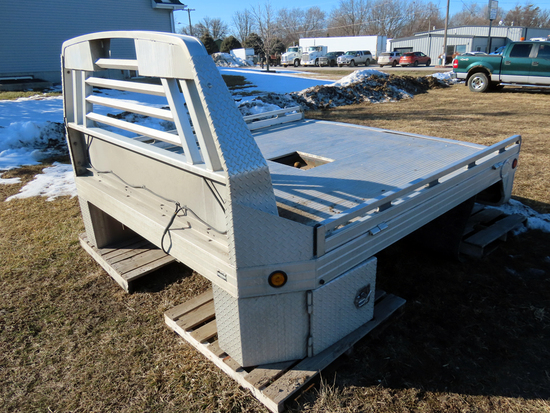 Aluminum Hillsboro Truck Bed-Taken off of a 2012 Ford F-550 Dually Truck.