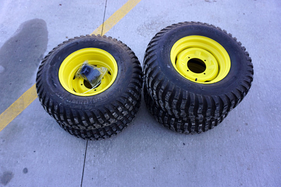 (4) Like New 25 x 8.00-12 John Deere Gator Tires with Rims.