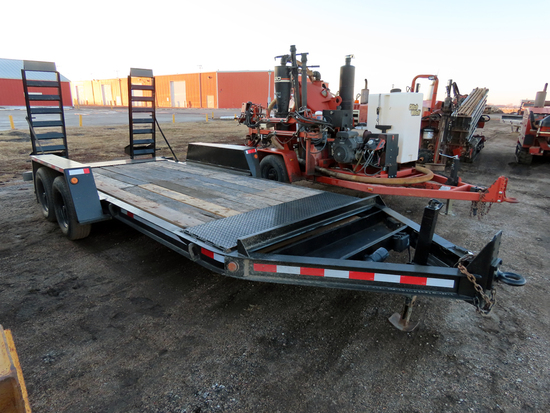 2006 Contrail Trailer 20' Tandem Axle Flatbed Tag Trailer, 7,000 lb. Axles