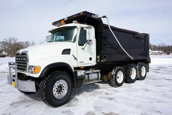 "2006 Mack Model CV713 ""Granite"" Triple Axle Conventional Dump Truck, VIN# 1M2AG11C77M044848, Mac"