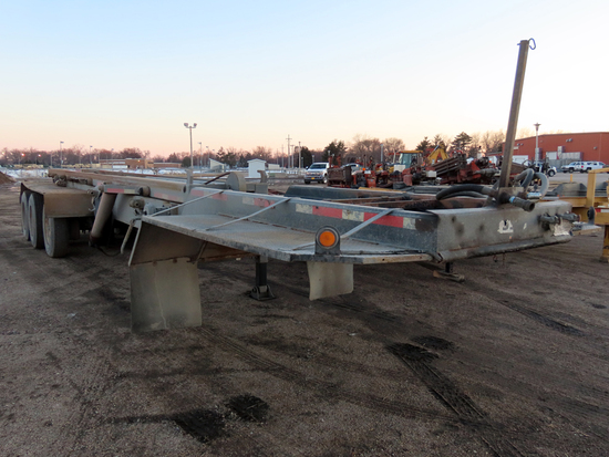 1985 Custom Built Triple Axle Container Roll-Off Trailer, VIN# 9176, Hydraulic Lift Hook Frame, Side