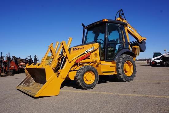 2005 Case Model 580 Super M MFWD Tractor/Loader/Backhoe, SN#:    , Case Diesel Engine, Hydrostat Tra