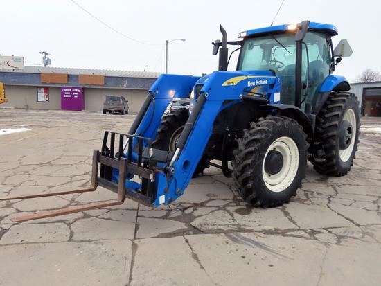 New Holland Model T6070 MFWD Diesel Loader Tractor, SN# ZABK04010, Turbo Diesel Engine, Powershift T