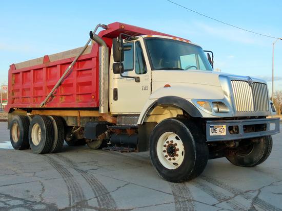 2005 IHC Model 7500 Conventional Tandem Axle Dump Truck, VIN# 1HTWPAZT55J045108, HT570 Turbo Diesel