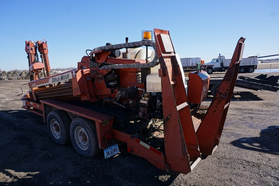 2000 Ditch Witch Model JT920 Jet Trac Directional Drilling Rig, SN# 2V0215, Lister Petter Turbo Dies