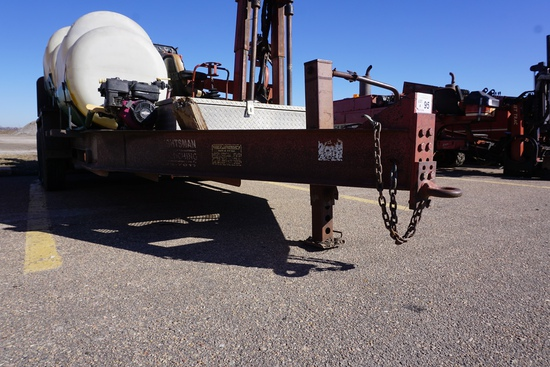2000 Belshe Tandem Axle 16' Flatbed Tag Trailer with Folddown Ramps, 12,000lb GVW