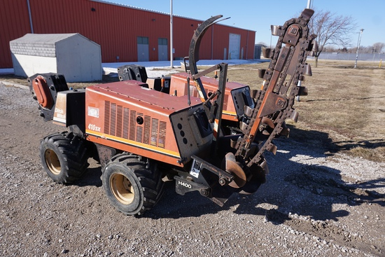 Ditch Witch Model 410 SX Walk Behind Trencher & Vibratory Plow Combo Unit, SN#4P0612, 1,756 Hours, L