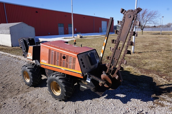 1997 Ditch Witch Model 410SX Vibratory Plow & Trencher Combo Unit, SN#4S0609, 1,087 Hours, Walk-Behi