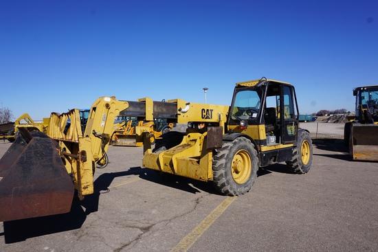 Caterpillar Model TH63 Rough Terrain Telehandler Forklift, SN# 3NN00559, Caterpillar 3204 Diesel