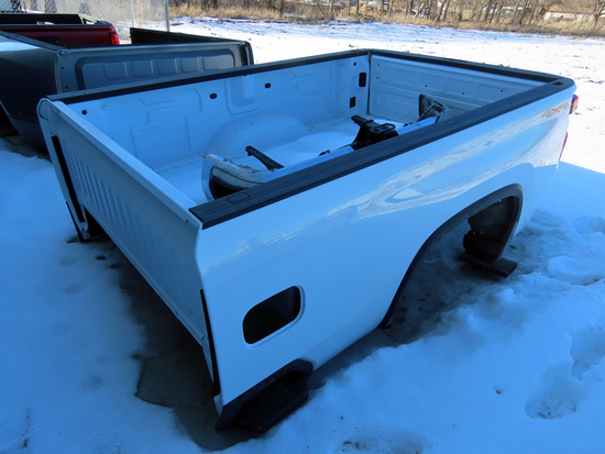 2021 Chevrolet 3500 Single Wheel Pickup Box (White) (This is a pickup box ONLY, not a full truck).