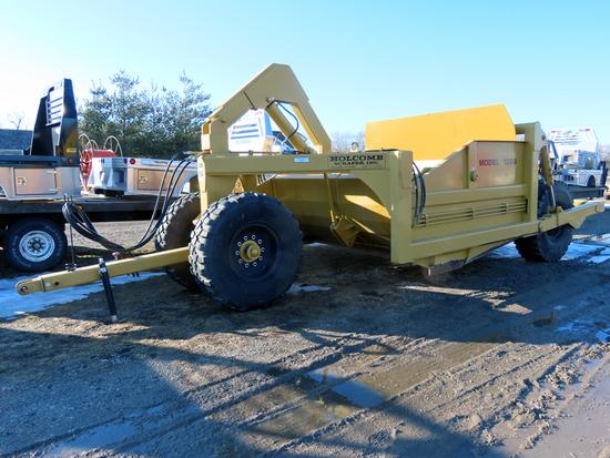 2018 Holcomb Model 1200 Pull-Type Hydraulic Scraper, SN# 6310813, Hydraulic Lift & Push Unload 12-Ya