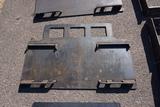 New/Unused Skid Steer Plate with Guard (5/16).