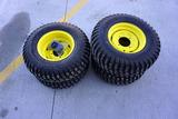 (4) Like New 25 x 8.00-12 John Deere Gator Tires with Rims.