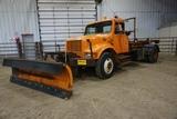 1999 IHC Model 4700 1-Axle Hook Truck, VIN# 1HTSCAARXXR656501, DT466E Diesel Engine, Allison Automat